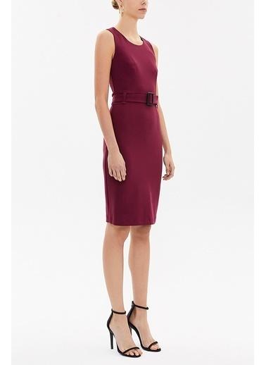 Societa Kemerli Likralı Elbise 91728 Fuşya